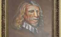"""PORTRAIT OF ABRAHAM VAN DER DOORT 2007 "" -20X30 cm-  carat/matita -Riproduzione-"