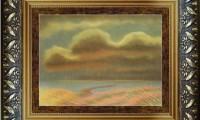 """""""CIELO  ROSA 2008"""" -20X30 cm-  carta/pastello -Riproduzione-"""