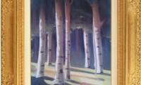 """""""LUCE DEL SOLE NEL PARCO 2007"""" -20X30 cm- carta/pastello -Riproduzione-"""