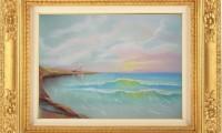 """CIELO  ROSA 2012"" -30X40 cm-  carta/pastello"