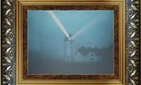 """""""FARO NELLA NEBBIA 2008"""" -20X30 cm-  carta/pastello"""