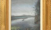"""""""LAGO  2009"""" -30X40 cm-  carta/pastello"""