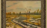 """""""INIZIO DI PRIMAVERA"""" -25X30cm-  carta /pastello- Riproduzione-(venduto)"""