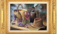 """""""RACCOLTA DELL'UVA 2012"""" -40×60 cm-  carta/pastello (venduto)"""
