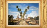 """KASAKHNSTAN 2008""  -40x60 cm-  olio su tela  -Riproduzione- (venduto)"