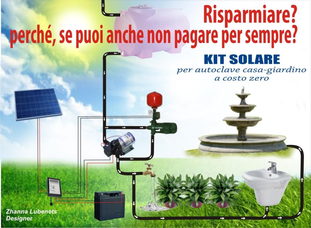 Kit solare per autoclave casa giardino paolo pecora - Centralina acqua per casa ...
